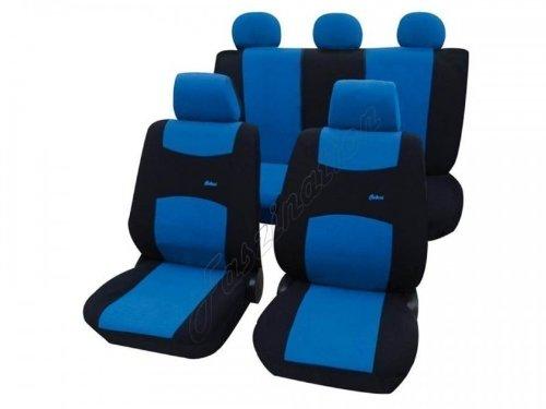 Coprisedili per auto, set completo, Fiat Panda 750, blu nero