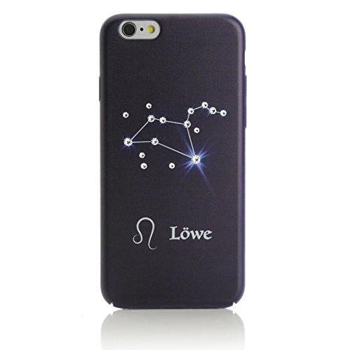 Arktis iPhone 6 6s Luxus Case Schutzhülle Hülle HardCase Strass Strassteine Astro Astrologie Sternzeichen Waage Löwe