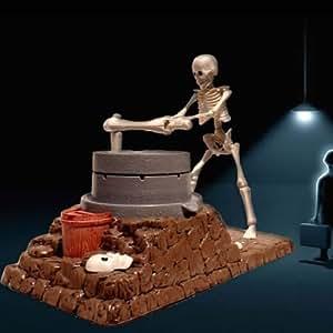 Tirelire originale enfant, tirelire squelette animée avec effet mousse, accessoire déco Halloween