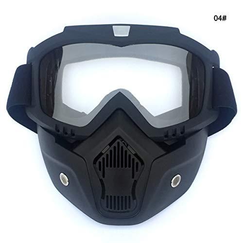 Nosii Winter Outdoor Sports Ski Snowboard MTB Radfahren Vollmaske Schutzbrille (Color : Transparent Film)