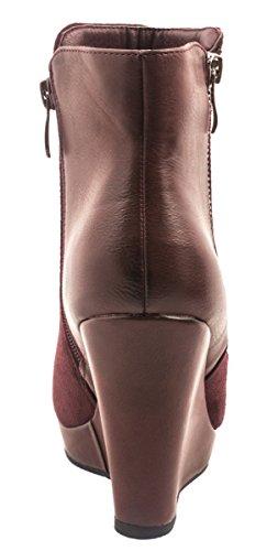 Elara - Scarpe con plateau Donna Rosso