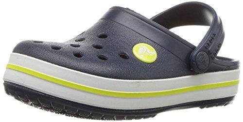 Flip-mädchen (crocs Unisex-Kinder Crocband K Clogs, Blau (Navy/Citrus 42k), 30/31 EU)