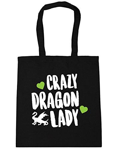 hippowarehouse-crazy-dragon-lady-tote-shopping-gym-beach-bag-42cm-x38cm-10-litres