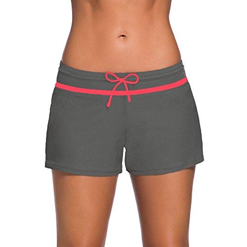 iBaste Women's Sports Swim Shorts Boyshorts Beach Bikini Tankini Bottom Swimwear