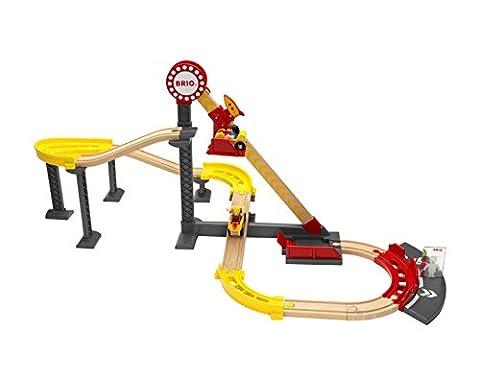 BRIO World 33730 - Achterbahn Set (Holzspielzeug Parkhaus)