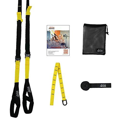 #ActiveMoves Premium Schlingentrainer inkl. Profi Suspensiontrainer Trainingsplan#