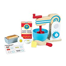 Melissa & Doug Wooden Make-a-Cake Mixer Set | Pretend Play | Play Food | 3+ | Gift for Boy or Girl