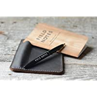 Leather field notes sleeve wallet travel journal wallet leather notebook wallet for pocket size field notes leather wallet cover with Pencil pocket sleeve