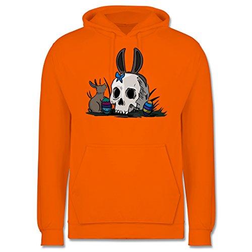 (Shirtracer Ostern - Totenschädel Ostern - XL - Orange - JH001 - Herren Hoodie)