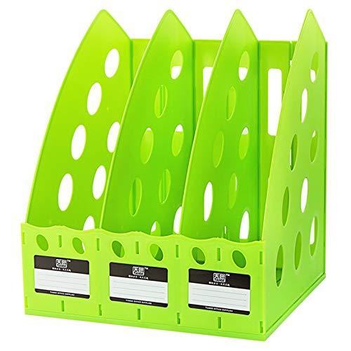 Lynn025Keats Multifunktionale Thick TIANSE TS-1305 Plastic 3 Abschnitt Divider Datei-Rack Home Office Desktop Storage Bücherregal -