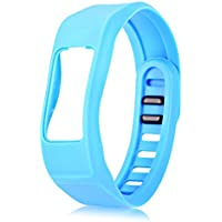 Shuzhen,Bracelet de Boucle de Courroie de Bande de Silicone de 16mm pour Le Bracelet de Sport de Garmin Vivofit2(Color:Azur)