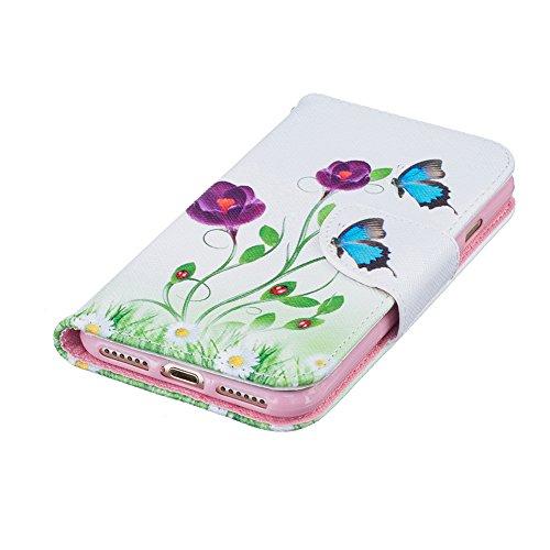 Coque Pour iPhone 7,Akristal Étui avec fonction de support Etui Protecteur Protection portefeuille Cas Magnétique Dragonne Pochette PU Cuir Multi-couleur 2