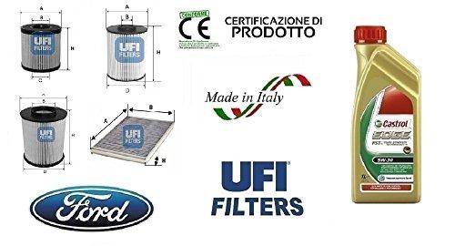 Preisvergleich Produktbild UFI Filter Ford Galaxy II 1.8 TDCi 74 - 92 KW + 6 L CASTROL EDGE 5 W30