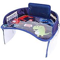 voloki Car Safety Seat Plate Multi-Function Baby Eating Painting Table Bandeja de Mesa de Dibujos Animados Impermeable para Cochecito de bebé (Fibra de poliéster, Tela Oxford) Value