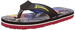 Superman Boys Black and Blue Flip-Flops and House Slippers - 5 kids UK/India (22 EU)