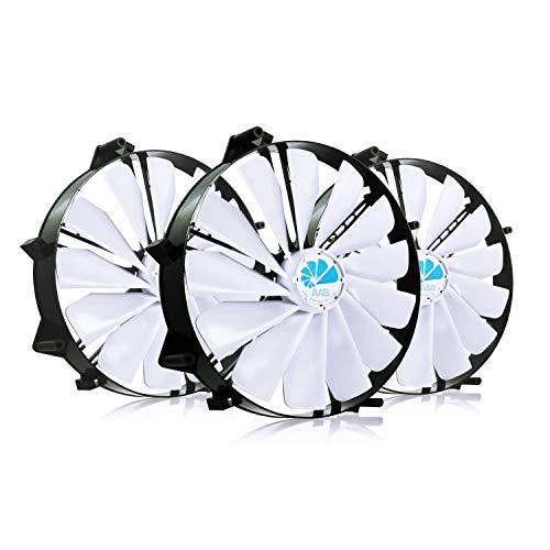 AAB Cooling Super Silent Fan 25 - Leise und Efizient 218mm Groß Gehäuselüfter mit 4 Anti-Vibration-Pads - Cooling Fan, Wentilator, Gehäuse Lüfter, PC Fan - Wertpaket 3 Stück