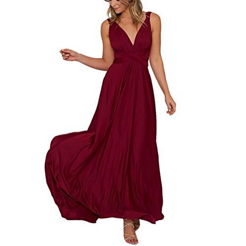 Baiggooswt Damen Sexy ärmelloses Maxi-Kleid, langes, Elegantes Kleid, Weiß - weiß - X-Groß -