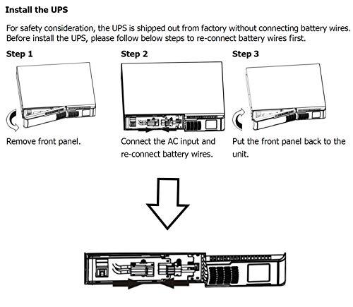 FSP Fortron Champ 1k Rack Mount, Online-USV, 1000 VA / 900W, bis 300VAC, mit USB, RS-232 und intelligenten Steckplatz für zusätzliche Schnittstellen, wie Protokollwandler oder Relaiskarten