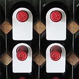 Etichette da Cantina - Collarini in Plastica di Identificazione per Bottiglie di Vino - Riutilizzabili - PLASTIC WINE TAG colore BIANCO - Set da 100 pz. - By EUPOSIA