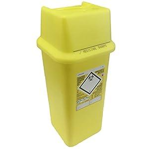 7L Sharpsafe Behälter für gelb Bio Hazard Klinge Spritze Nadel klinischen gekennzeichnet Müll Box mit scharfen Mülleimer