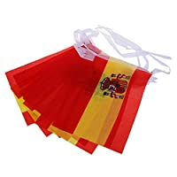 SODIAL(R) 3 m Pride Passion Party Spain Bunting Small Flag Accessory