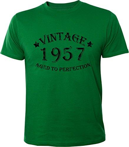Mister Merchandise Cooles Herren T-Shirt Vintage 1957 Aged To Perfection Jahre Geburtstag Years Grün
