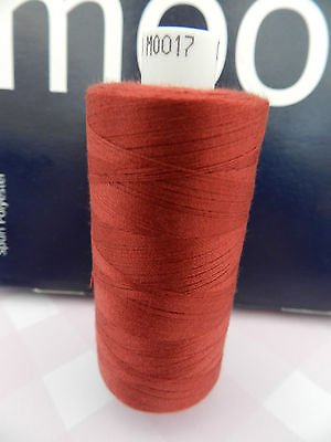 Always Knitting And Sewing Coates Moon Spun Polyester Sewing Thread 1000 Yards, Burnt Red No.17