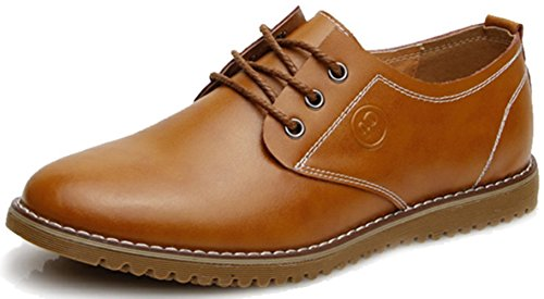 DADAWEN Homme Commercial style leather Oxford chaussure Jaune
