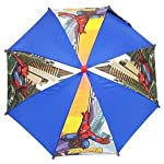 Marvel Spiderman - Images of Spider-man leaping through the skys of New York City! Boys Umbrella / Brolley