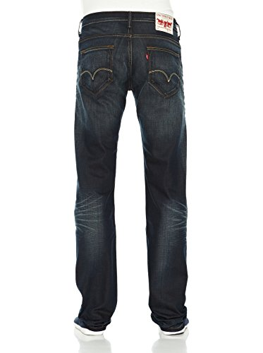 Levi's 504 Regular Straight Fit, Jeans Uomo Black Drift