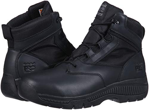 Timberland PRO Valor Duty 6  Soft Toe Military and Tactical Boot  Black Smooth Leather with d Ballistic Nylon  14 M US