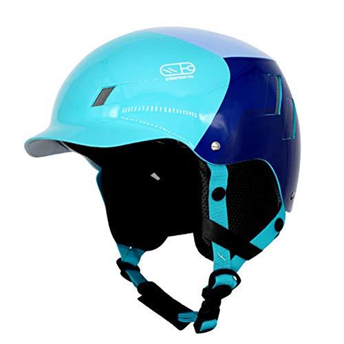 YSH Adulti Casco Da Sci Inverno Caldo Peluche Casco Da Snowboard Moto Bike Ciclismo Skateboard Slitta/Sci Sport Sicurezza,Blu