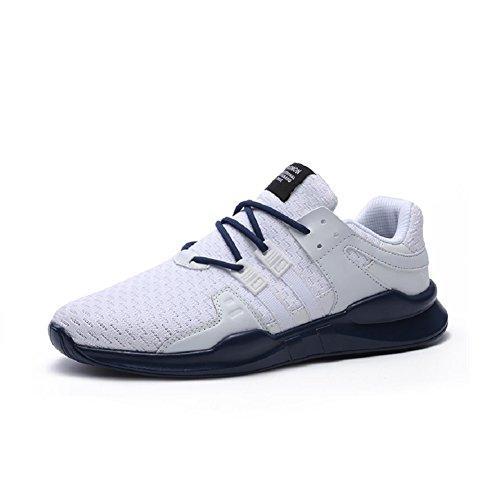 JOYTO Uomo Scarpe da Ginnastica Corsa Sportive Fitness Running Basse Casual All'aperto Sneakers Nero Bianca Grigio 39-46 Blu