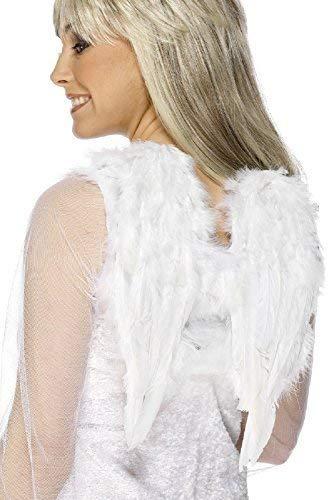 Krippe Kostüm Weisen - Fancy Me Damen Ältere Mädchen Weiße Federn Engel Fee Wings Weihnachten Weihnachten Krippe Verkleidung Kostüm Zubehör
