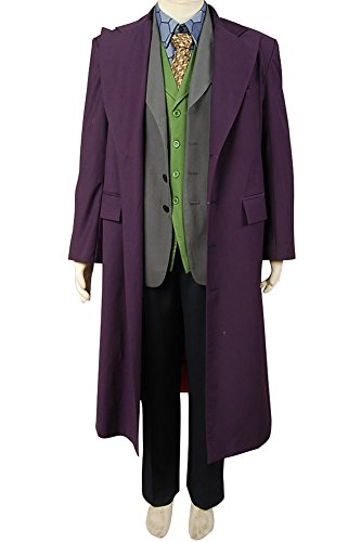 Kostüm Dark Joker Das Knight - MingoTor Offiziersbursche Batmann Dark Knight Heath Ledger Joker 6 pcs Set * Wool Trench Coat Windmantel Cosplay Kostüm Herren S