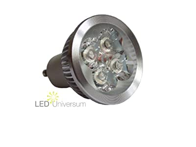 LED Spot GU10 - 4W (4x1W) - High Power LEDs - warmweiss (entspricht 40W Halogen)