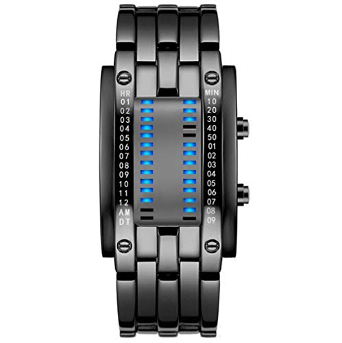 L&H Herrenuhr Tungsten Stahl Automatische kühle helle LED-Armband Special Forces Ins Super-Feuer elektronische Neuheit Schmuck -