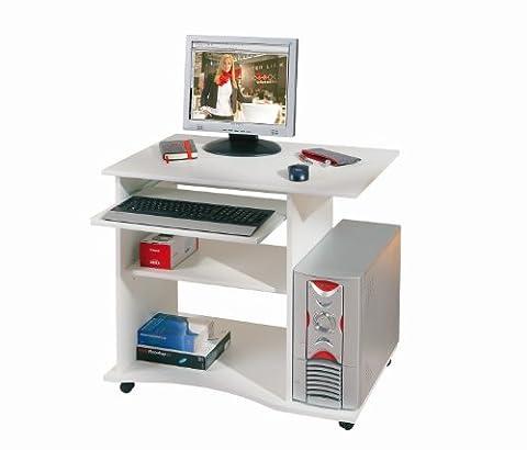 Computertisch Pepe weiß mit Tastaturauszug