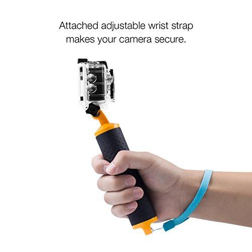 APEMAN-Handle-Mount-Floating-Grip-impermeabile-braccio-autopulente-per-mano-Handie-Grip-per-la-macchina-fotografica-dazione-con-cinghia-e-vite-a-polso-registrabile