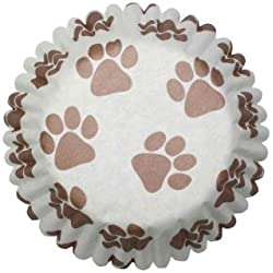 Paw Print Cupcake Cases