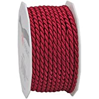 Präsent 4360510-619 - Bobina de cordón (5 mm x 10 m), color rojo