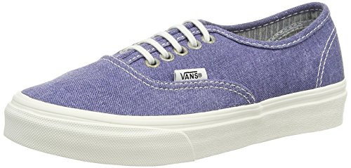 Vans U Authentic Slim Sneaker, Unisex Adulto Blu (Stripes Washed/Navy)