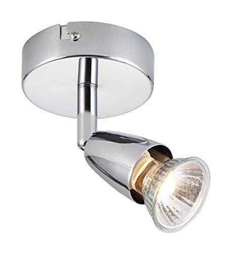 Saxby Cast intérieur encastré fixe lumière nickel satiné effet 50 W GU10 réflecteur