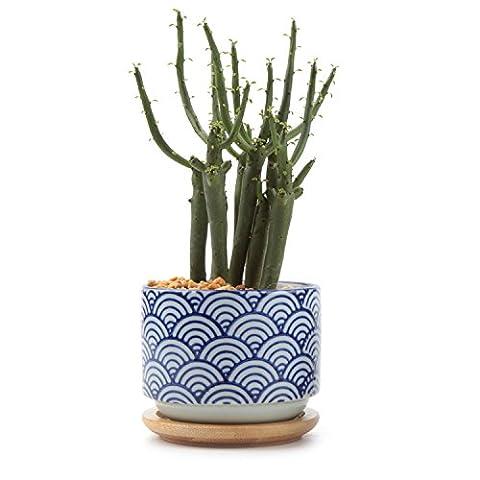 T4U Japonais style Série NO.3 Céramique Pot Plante Récipient Pépinière Pots Succulents Cactus Plante pots