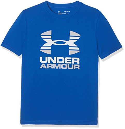 Under Armour Two Tone Logo Ss T, Maglia a Maniche Corte Unisex Bambini Ultra Blue