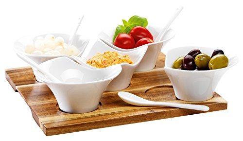 domestic-by-maser-927939-snack-ing-set-11-pezzi-su-un-legno-tray-un-vero-eye-catcher