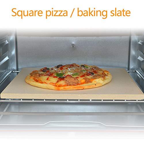 wansosuper Pizzastein 10.9 * 10.9cm,Pizzastein gasgri Rechteckig,Pizzastein Rechteckig,KäSe Zum Kochen - Kochen Und Servieren Von Pizzabrot,Beige-380 * 300