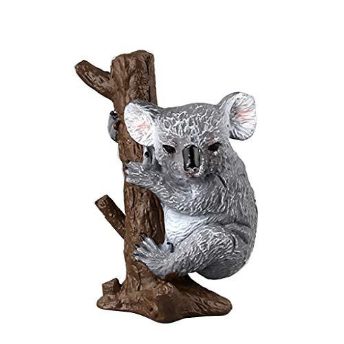 Qiuxiaoaa Kunststoff Simulation Koala Modell Tierfigur Geschenk Einrichtungsgegenstände Zubehör Frühkindliche Erziehung Aufklärung Spielzeug E