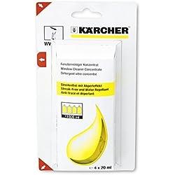 Kärcher 6.295-302.0 Nettoyant vitres concentré (4 x 20 ml) détergent pour nettoyeurs de vitres
