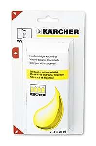Karcher Nettoyant vitres concentré 4 x 20 ml pour le nettoyeur de vitres WV réf 6.295-302.0